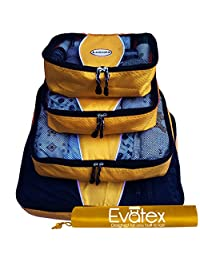 Packing Cubes   Travel Packing Cubes, 4pc Set   Packing Cubes for Travel  Luggage (Gold)