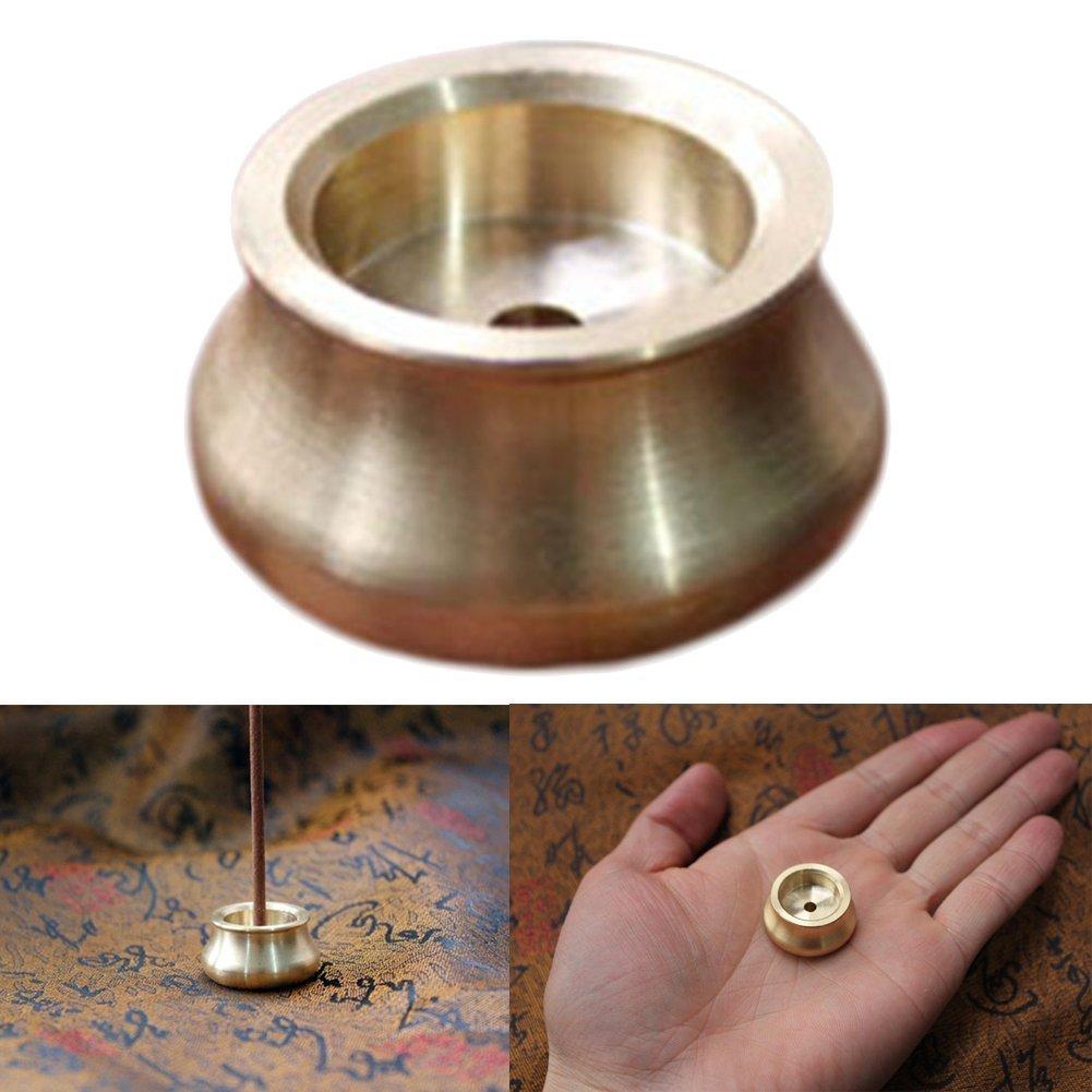 Chytaii Censer Incense Burner Holder Censer Bowl for Incense Sticks Brass Buddha Incense Burner Home Fragrance Accessories (10Pcs)