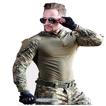 Amazon.com: Green Python Print Camouflage Suit, MenS Combat ...