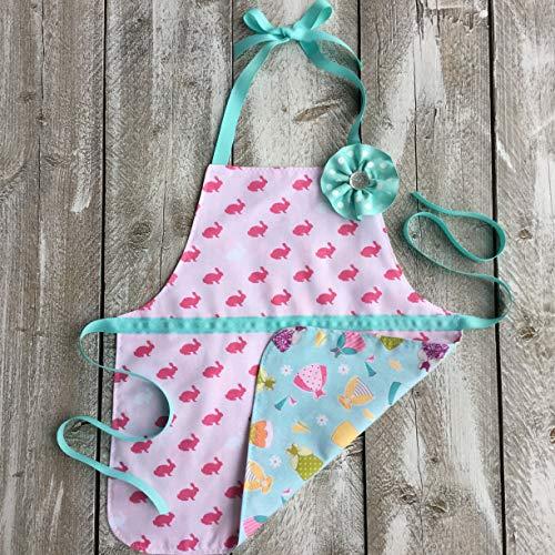 Little Girl Reversible Bunny and Princess Apron (Princess Sew Dress)