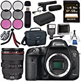 Canon EOS 7D Mark II DSLR Camera 9128B002 + Canon EF 24-105mm f/4L IS USM Lens 0344B002 + LPE-6 Lithium Ion Battery + Sony 128GB SDXC Card + Flexible Tripod + Universal Slave Flash unit Bundle