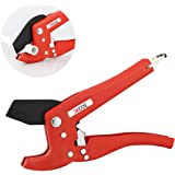 """XOOL Pipe and Tube Cutter, Ratcheting Hose Cutter One-hand Fast Pipe Cutting Tool with Ratchet Drive for Cutting Less Than 1-1/4"""" O.D. PEX, PVC, and PPR Pipe, Ideal for Plumbers, Home Handy Man"""