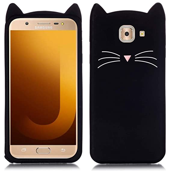 more photos 978b1 efa94 V COM Soft Silicon cat Back Cover for Samsung Galaxy J7 Max in Black ...