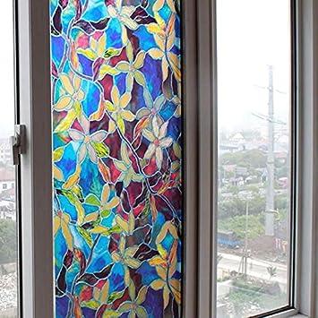 Vinilo electrostatico autoadhesivo modelo vidriera Tiffany para ...
