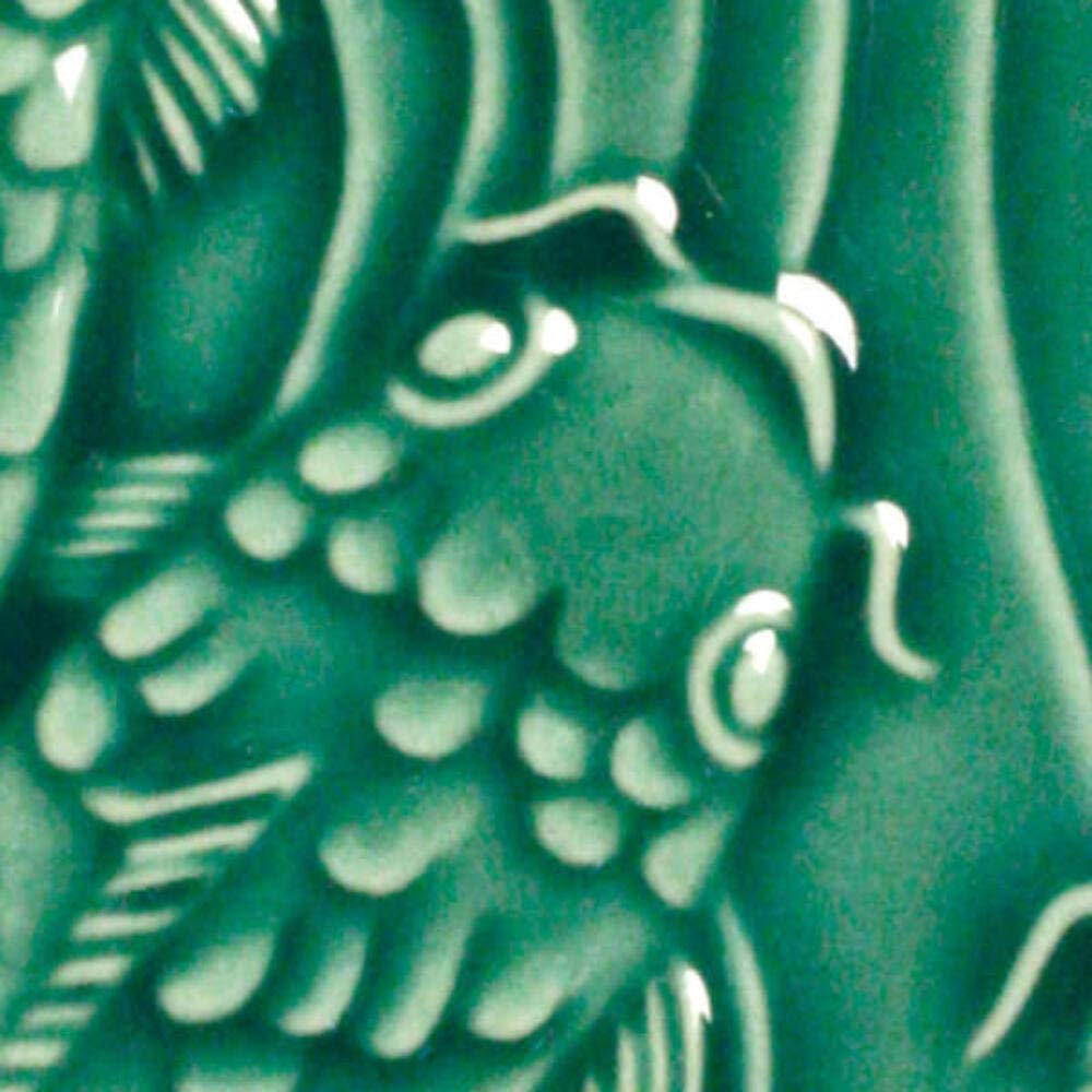 AMACO LG-46 Lead Free Liquid Gloss Glaze, Leaf Green, Pint