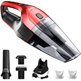 Holife Handheld Vacuum Cordless Cleaner Rechargeable, 14.8V Portable Powerful Cyclonic Suction Lightweight Wet Dry Lithium Hand Vac with Quick Charge for Home Pet Hair Car Cleaning, Red