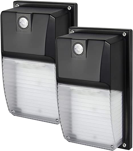 Amazon Com Led Wall Pack Photocell Dusk To Dawn 18w For Outdoor Lighting 2160 Lumens Replaces 60w Hps Hid Fixture 100 277v Ip65 Waterproof 2 Pack By Dakason Home Improvement