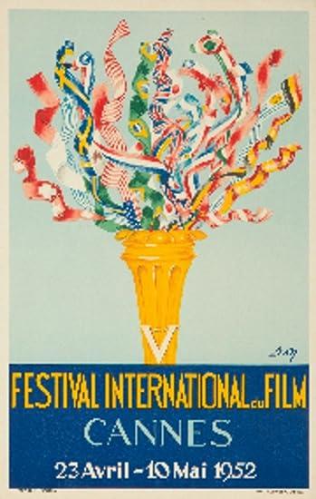 Amazon.com: Festival de Cine de Cannes 1952 Vintage Cartel ...