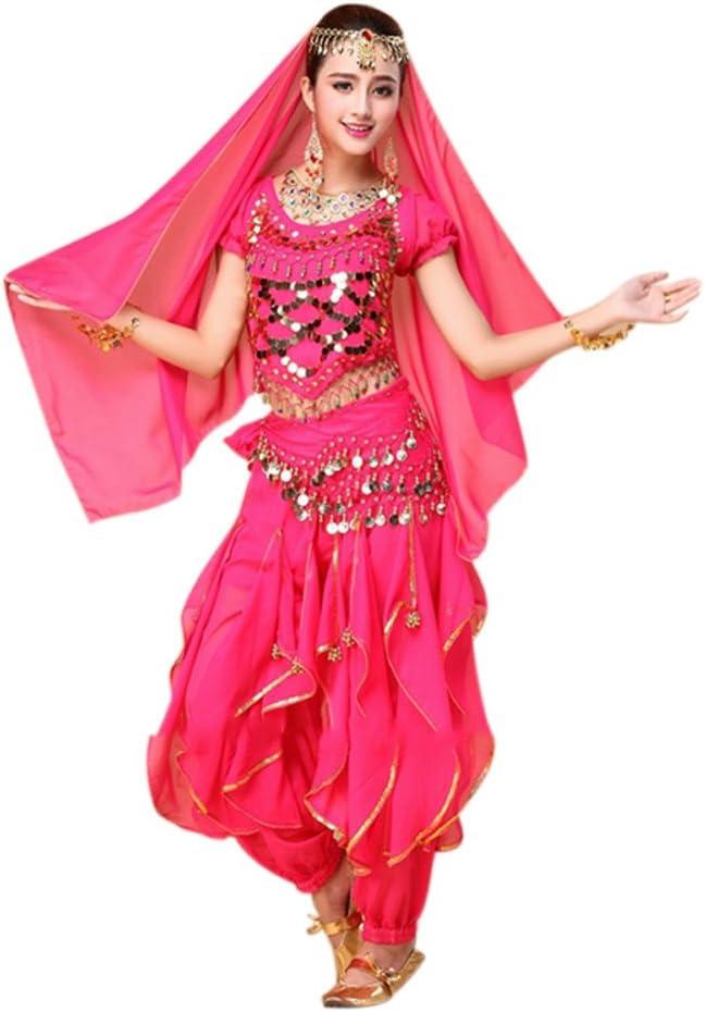 Wildeal - Juego de 4 Piezas de Disfraz de Bollywood para Danza del ...