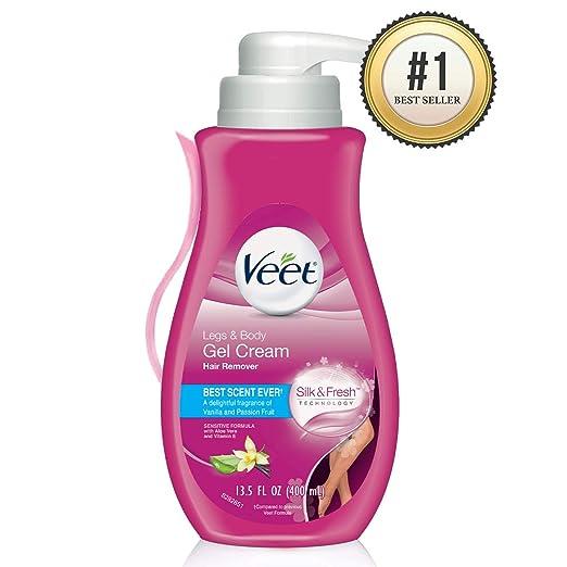 Hair Remover, Veet Gel Hair Removal Cream Sensitive, 13.5 Ounce, Sensitive formula with Aloe Vera and Vitamin E best depilatory cream