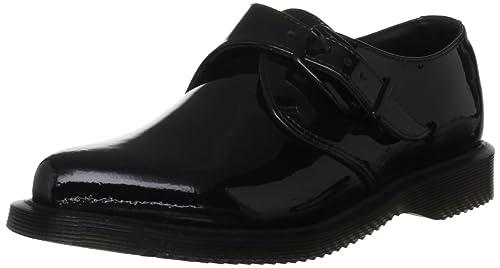 Dr Martens Miller - mocasines y zapatos sin cordones de charol mujer, color negro,