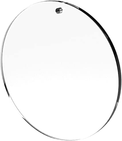 10 WHITE GLITTER Circle Charms Blanks 1 Laser Cut Acrylic Blanks Disc Lca0527