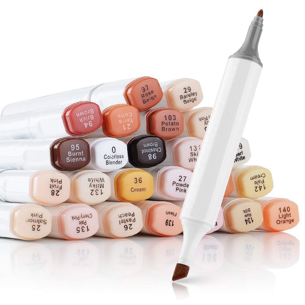 Touchnew Marcadores Dual Tip 24 Colores Tonos Piel (xsr)