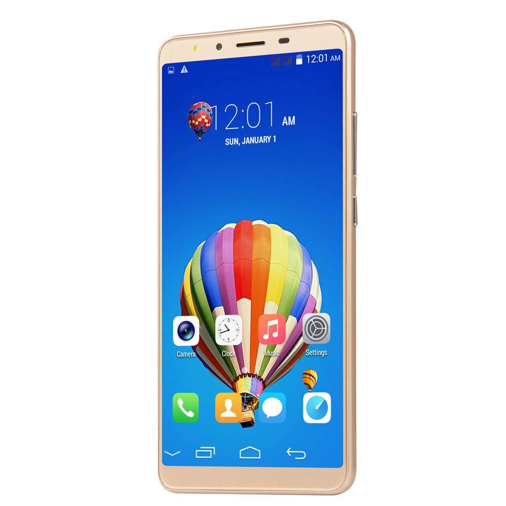 Mbtaua-Phone 5.5'' Ultrathin Smartphone Android 6.0 Octa-Core & 512MB+4G GSM WiFi Dual Unlocked Smartphone Gold