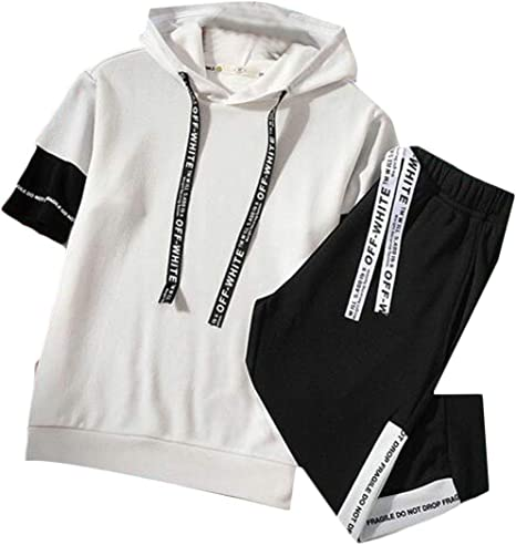 Fensajomon Mens Hoodie Winter Full-Zip Thermal Slim Quilted Jacket Parka Coat Outerwear