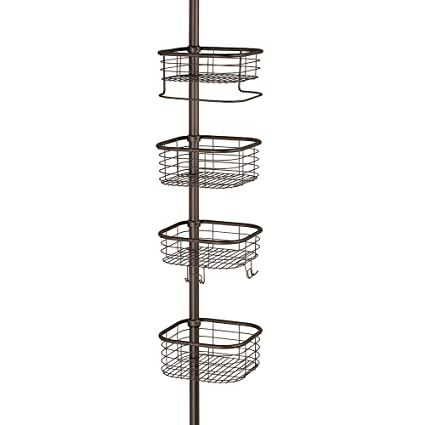 Amazon.com: InterDesign Forma Constant Tension Shower Caddy – Square ...