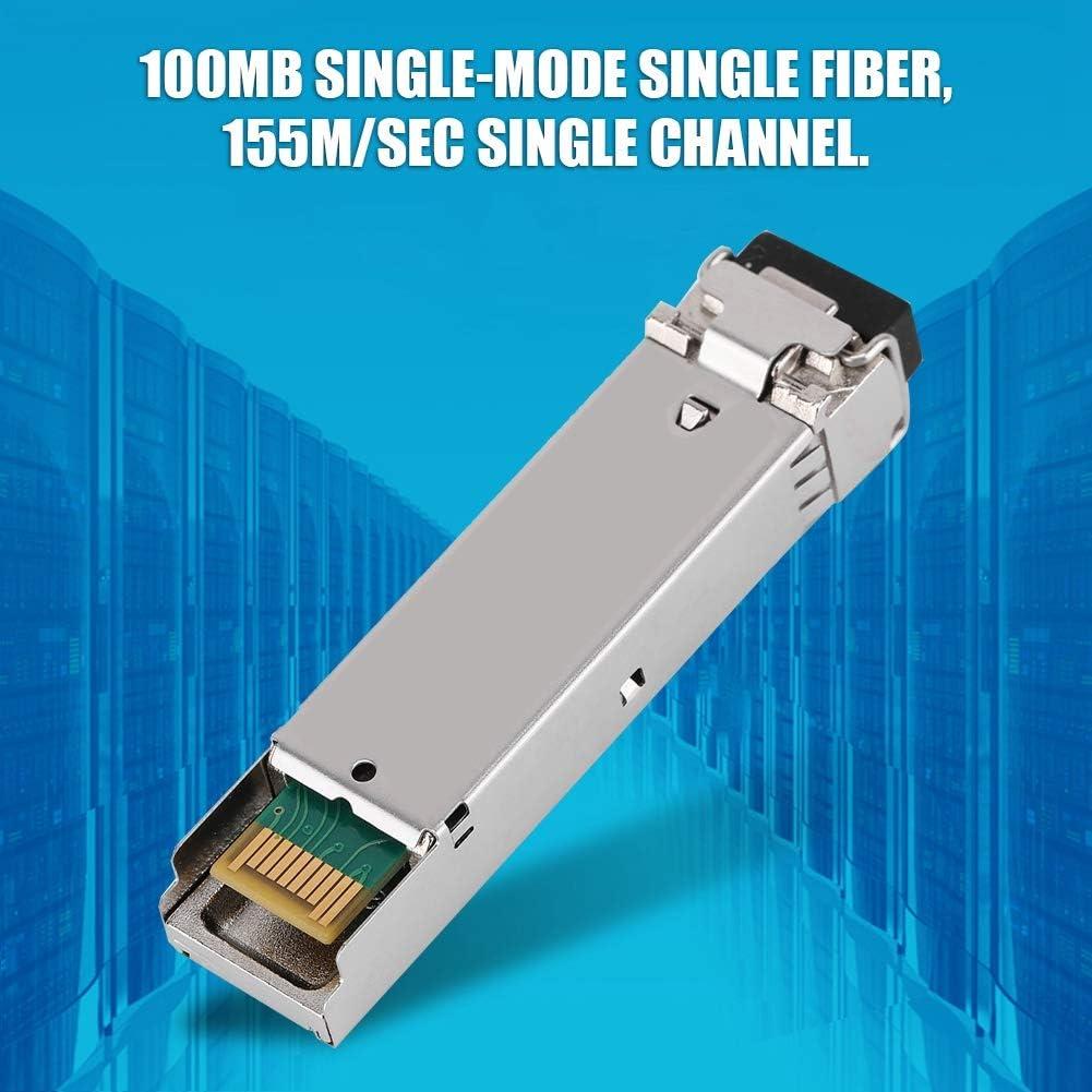 SFP-FE-LH40-SM1550-BIDI 40KM 100MB Single Mode Single Fiber Transceiver Optical Module 155M//sec LC Single Fiber Module for High Speed Network Unmanned Vehicles VR