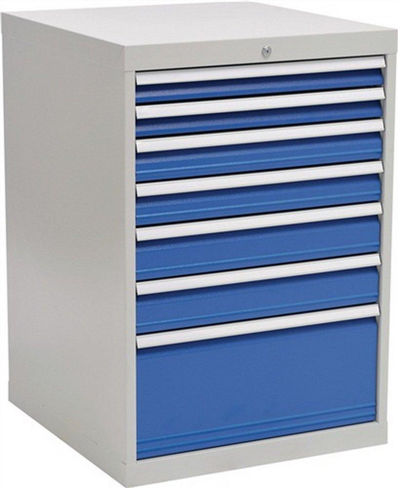 Schubladenschrank H1019xB705xT736 grau/blau 2x75 2x100 2x125 1x300