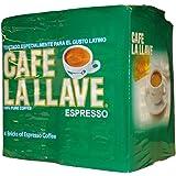 Café La Llave Espresso, Fine Grind, 100% Pure Coffee, Dark Roast, Rich and Aromatic, 4,  10-Ounce  Bricks