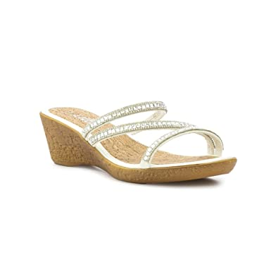 ea3b69f985bc Lilley Womens White Diamante Wedge Mule Sandal  Amazon.co.uk  Shoes ...