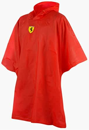 Ferrari Poncho Raincoat Formula One F1 Team Prancing Horse Shield One Size