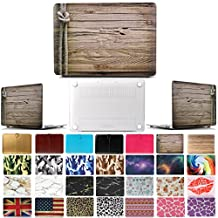 """Coosbo - Fashion Matte Patterns Hard Case Cover for 15"""" 15.4"""" Apple Mac Macbook Pro with CD-ROM Accessories Gift ((Model:A1286 on the bottom of laptop), Wood grain 2)"""