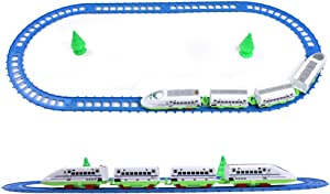 Maggie High Speed Bullet Train Toy Set 14 Pieces Battery Operated Train Set