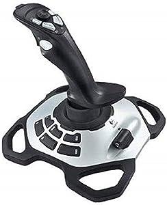 Logitech G Extreme 3D Pro Joystick, Control de Timón con Eje de Torsión, 12 Botones Programables, Selector de Vista 8 Vias, Base Sólida, Disparador de Acción Rápida, USB, PC, Negro/Plata