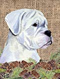 Caroline's Treasures SS4098CHF Boxer Flag Canvas, Large, Multicolor