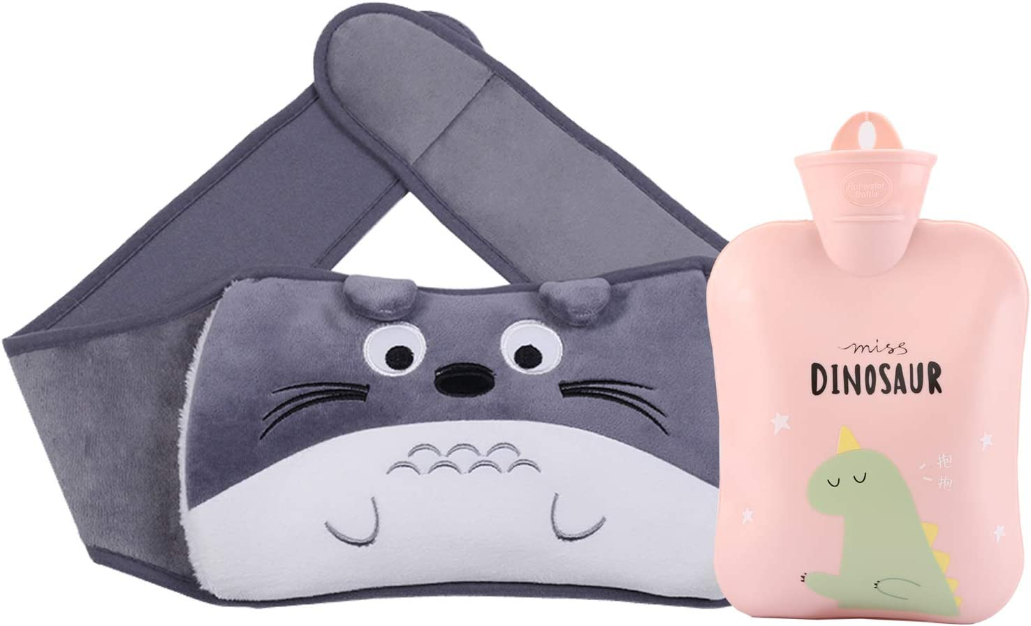 Hot Water Bottle with Waist Cover,Cartoon Warm Water Bag Rubber Hot Water Pouch for Pain Relief,Arthritis, Headaches, Hot and Cold Therapy