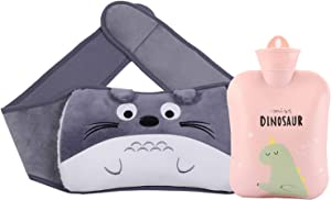 Hot Water Bottle with Waist Cover,Cartoon Warm Water Bag