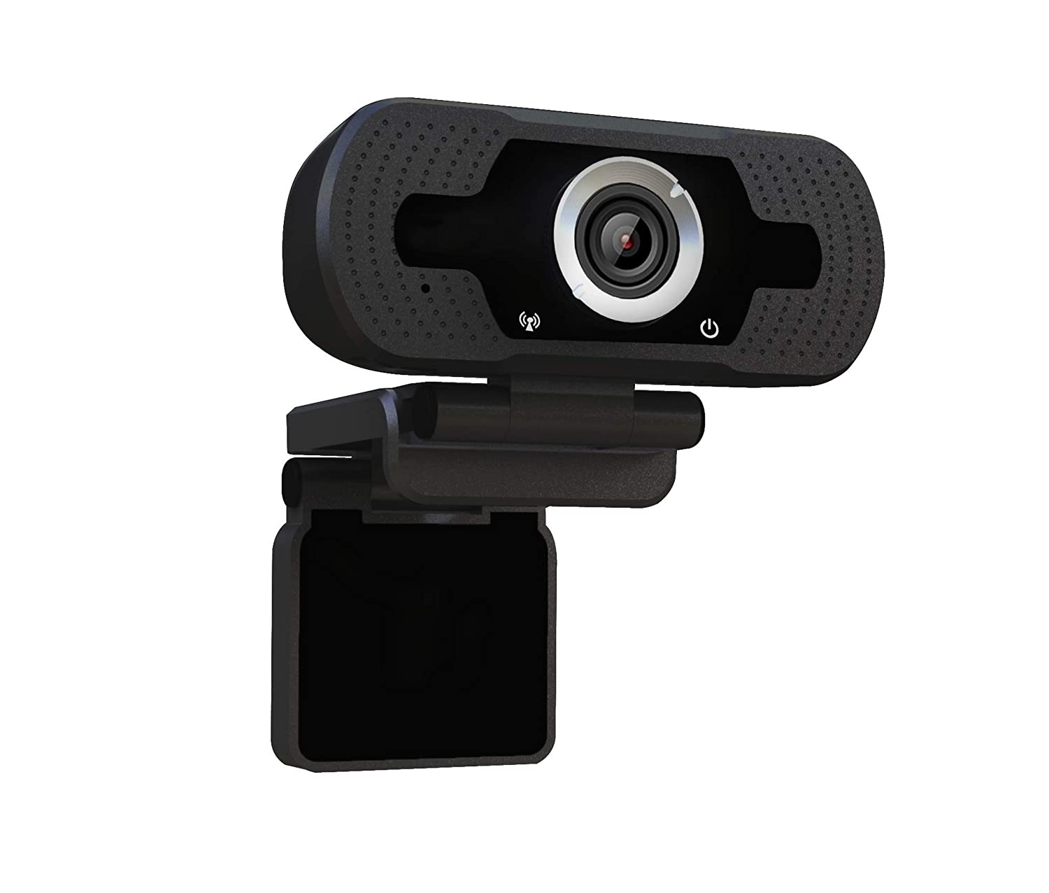 Dericam 720P HD Webcam Live Streaming, Webcam USB pour Ordinateur de Bureau et Portable, Mini camé ra vidé o Call and Play Plug-and-Play, Micro inté gré , Clip Rotatif Flexible, W1, Noir Micro intégré