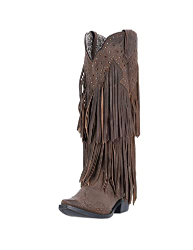 Amazon.com | Laredo Women\'s Fringe Motion Cowgirl Boot Snip Toe ...