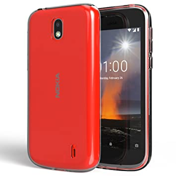 huge discount 482a3 4bb46 NALIA Case for Nokia 1, Mobile Phone Back-Cover Ultra-Thin Silicone Soft  Skin Protector, Shock-Proof Crystal Clear Rubber Gel Bumper, Flexible ...