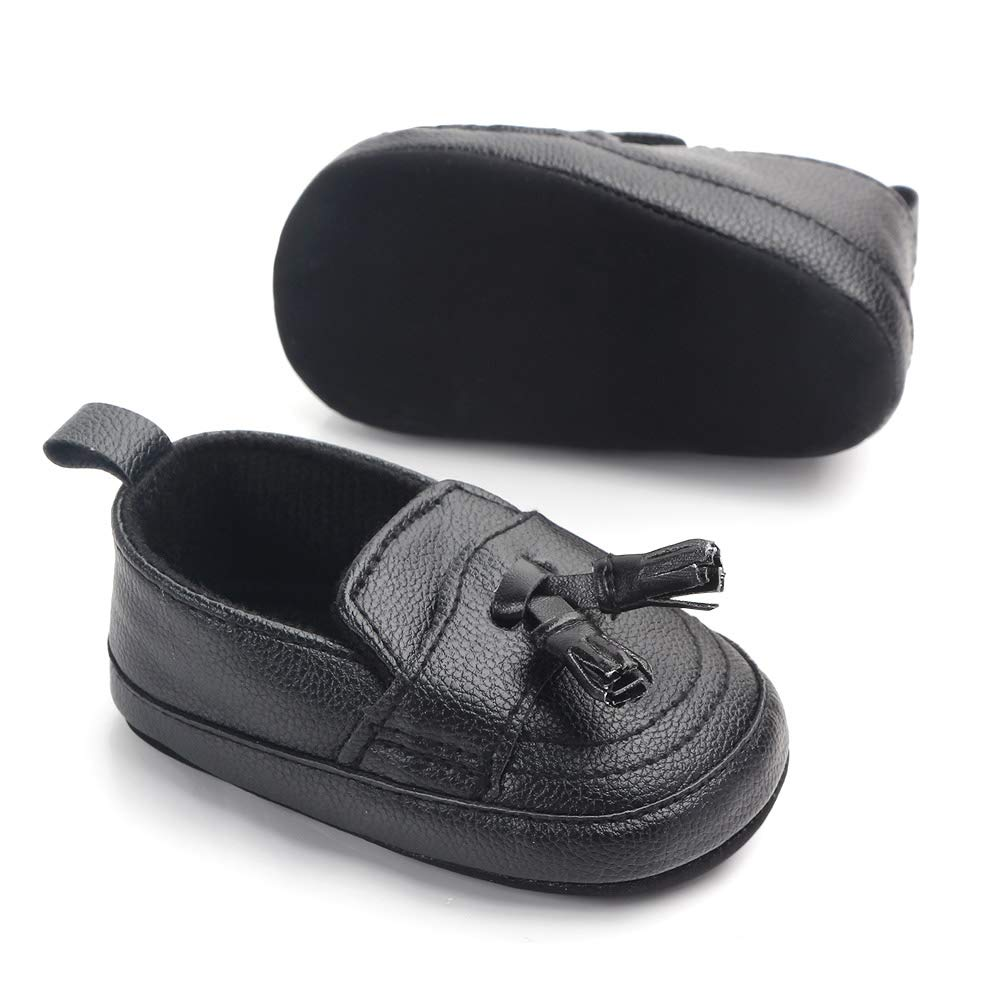 Csfry Infant Toddler Baby Boys Soft Moccasinss Crib Shoes