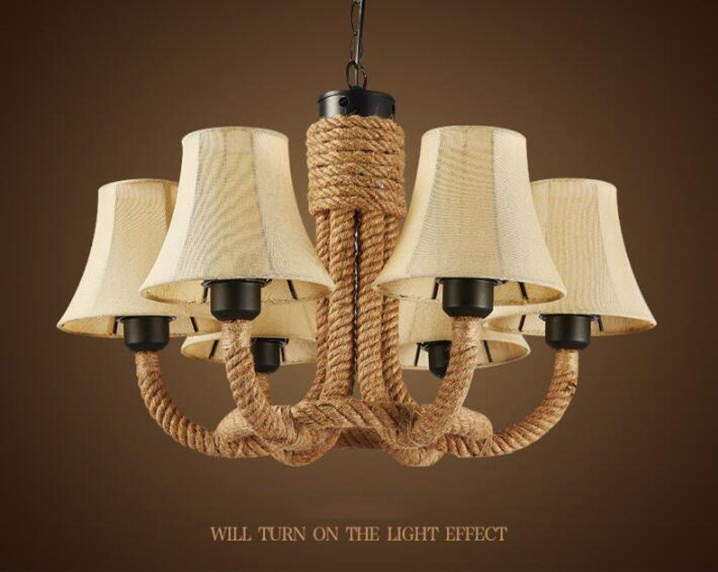 Plafoniere Per Case Di Montagna : Lampadari stile rustico americano lampadario a canapa di montagna