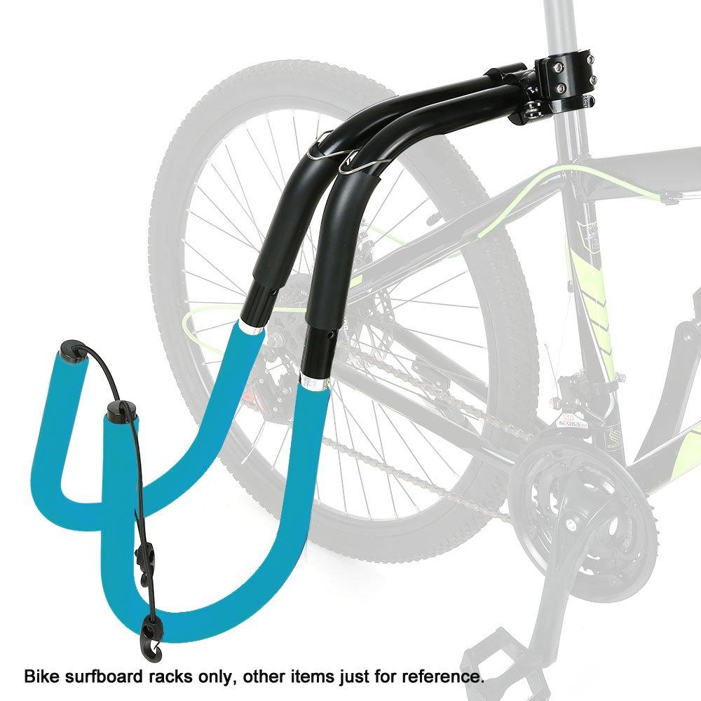 Lixada Bicicleta Ajustable Rack para Tabla de Surf Bicicleta para Surfista Carrier Mount to Seat Posts Accesorios (Azul): Amazon.es: Deportes y aire libre