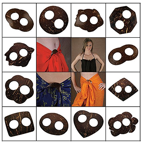 Sarong Tie - Sets of 3 or 4 Pieces, Coconut, Always a Free One