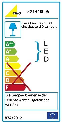 Trio-Leuchten LED-Schiene Aluminium gebürstet/chrom, Glas weiß ...