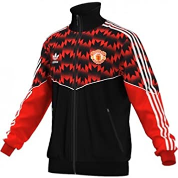 adidas Mens Manchester United Track Top RedBlack M: Amazon