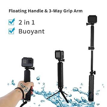 16e15a26c88ba0 TELESIN Waterproof Extension Pole with Tripod, Multi-functional 3 Way  Handheld Grip Telescopic Selfie