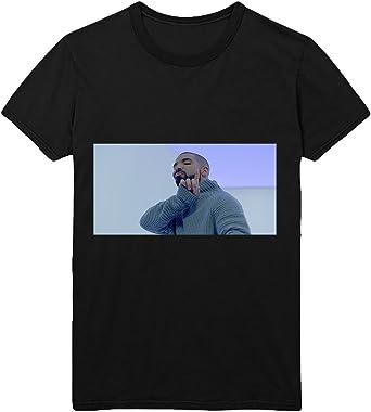 Drake Hotline Bling T-Shirt Camiseta Shirt para Hombre Hombres Camisa Negra Men Mens Tshirt 100% Algodón Regalo De Cumpleaños Navidad Mujer MD Men Black Men Shirt: Amazon.es: Ropa y accesorios
