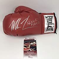 $274 » Autographed/Signed Mike Tyson & Evander Holyfield Red Everlast Boxing Glove JSA COA