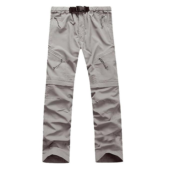 LANBAOSI Deporte rápido seco Senderismo hombres pantalones cortos  Convertible  Amazon.es  Ropa y accesorios ebfcf6d0b38