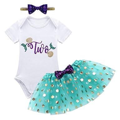 inlzdz Vestidos Princesa para Bebé Niña Vestido de Fiesta ...