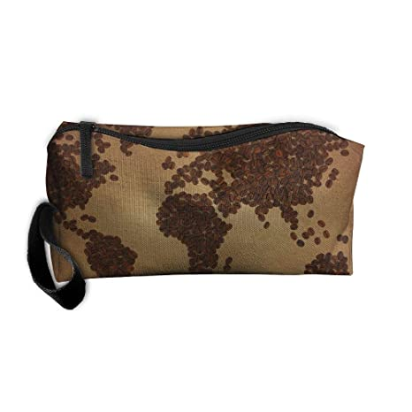 Amazon.com: Jessent Coin Pouch Coffee Map Pen Holder Clutch ... on map chairs, map cabinets, map clothing, map chests, map clocks, map case table, map lamps, map case desk,