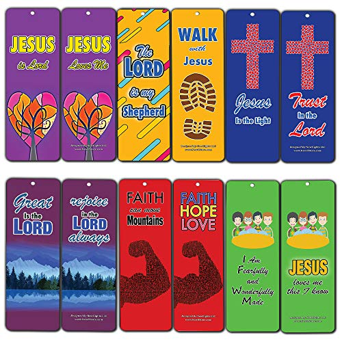 Jesus Loves Me Bookmarks for Kids (60-Pack) - Jesus is Lord - Encouragement Gifts for for Sunday School Homeschooling VBS Camp Bible Journaling Wall Decor