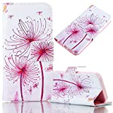iPhone SE/5/5S Case, Bonice Magnetic Snap Flip Standing Wallet Case Ultra Slim Antiscratch Shockproof Protective Cover-Pattern 08