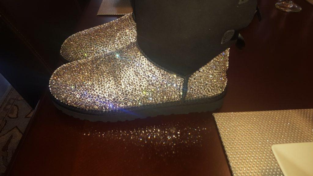 Half Crystal Custom Boots