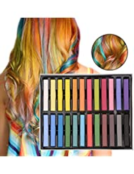 Hair Chalk for Girls, Temporary Hair Color Wax for Kids, Great Gifts for 4 5 6 7 8 9 10 Years Old Girls and Up, Pack of 24